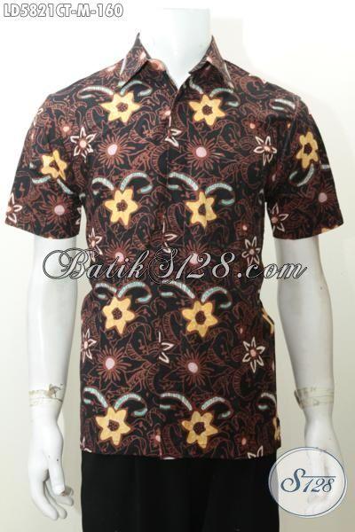 Hem Batik Cap Tulis Motif Gaul, Pakaian Batik Lelaki Muda Size M Model Lengan Pendek Cocok Di Pakai Jalan-Jalan [LD5821CT-M]