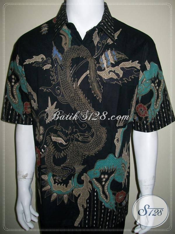 Batik Naga, Kemeja Batik Tulis Motif Naga, Hem Batik Naga [LD584T-XL]