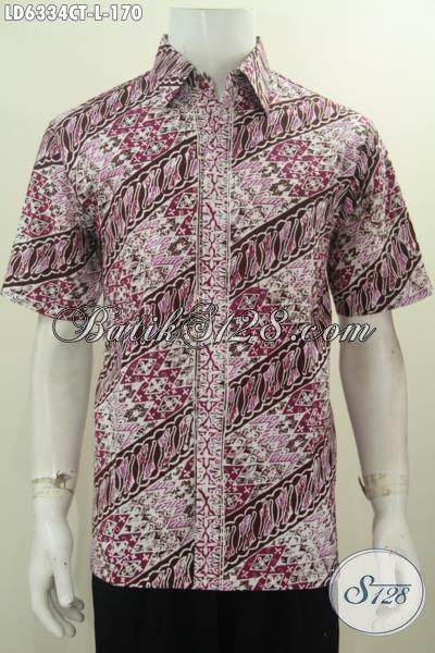 Produk Hem Batik Parang Khas Jawa Tengah, Hadir Dengan Desain Berkelas Warna Mewah Proses Cap Tulis Untuk Tampil Makin Berkelas [LD6334CT-L]