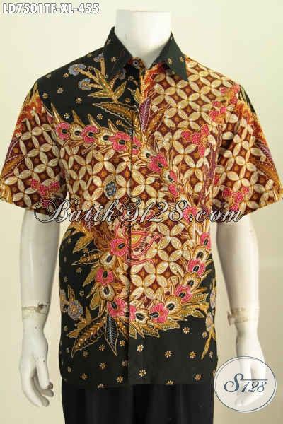 Juragan Batik Online Koleksi Lengkap, Sedia Pakaian Batik Berkelas Model Lengan Pendek Motif Bagus Proses Tulis Untuk Penampilan Lebih Istimewa Daleman Full Furing [LD7501TF-XL]
