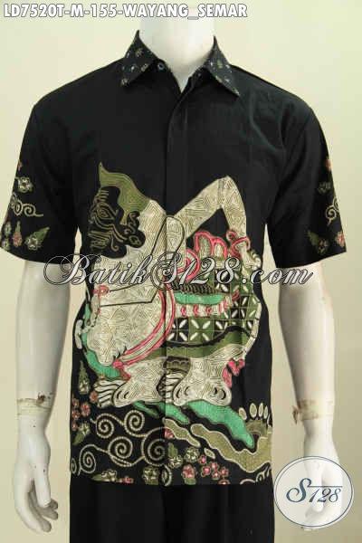 Busana Batik Motif Wayang Semar Untuk Tampil Berwibawa, Pakaian Batik Tulis Halus Lengan Pendek Hanya 155K [LD7420T-M]