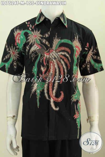 Produk Kemeja Batik Untukk Pria Muda, Busana Batik Keren Motif Cendrawasih Proses Tulis Modis Buat Santai Dan Hangout Harga 155K [LD7524T-M]