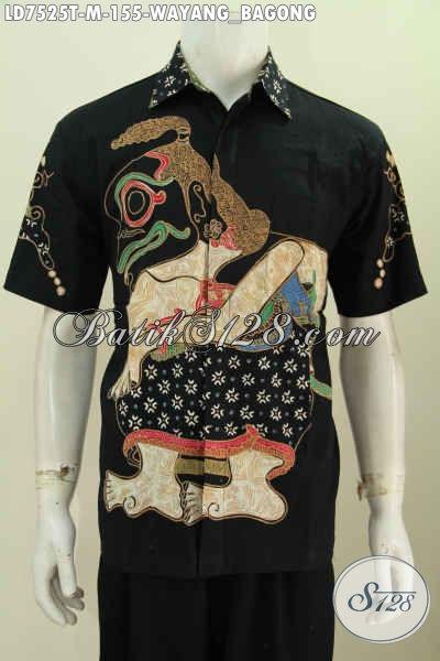 Baju Batik Pria Paling Laris, Kemeja Batik Wayang Proses Tulis Bahan Adem Model Lengan Pendek Cocok Buat Santai Dan Resmi [LD7525T-M]