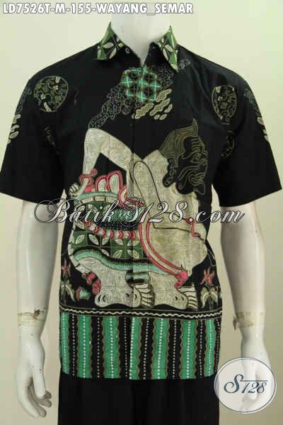Baju Batik Motif Semar, Kemeja Batik Tulis Lengan Pendek Buatan Solo Spesial Untuk Lelaki Muda Tampil Gaya [LD7526T-M]