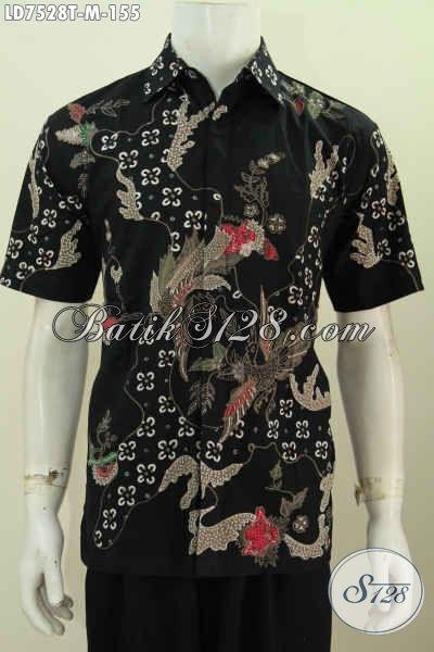 Jual Baju Batik Trendy, Busana Batik Lengan Pendek Proses Tulis Kwalitas Istimewa Bahan Adem Cuma 100 Ribuan Saja [LD7528T-M]