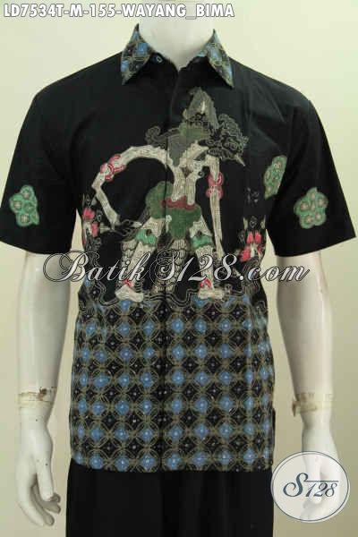 Baju Batik Wayang Bima, Produk Busana Batik Modis Gaul Proses Tulis Lengan Pendek 150 Ribuan [LD7534T-M]