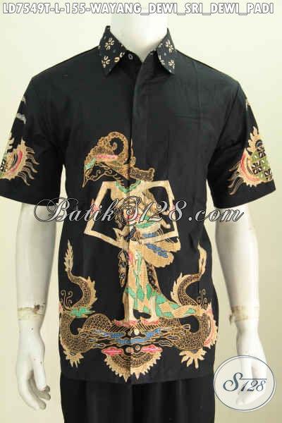 Kemeja Batik Ukuran L Motif Dewi Sri, Busana Batik Istimewa Dari Solo Untuk Kerja Dan Santai Proses Tulis Hanya 155K [LD7549T-L]