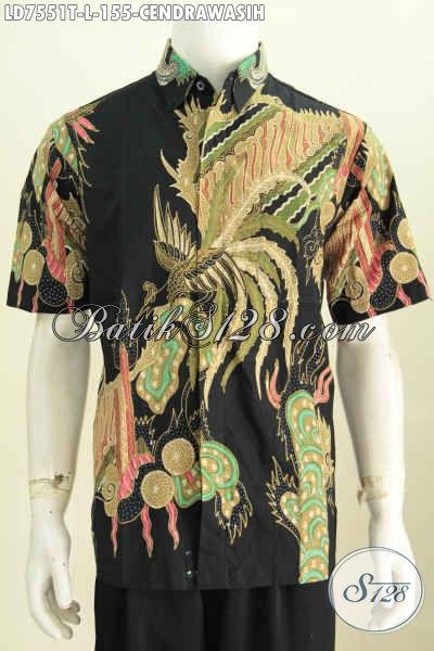 Baju Batik Masa Kini, Kemeja Batik Pria Muda Dan Dewasa Untuk Tampil Gagah Dan Keren, Berbahan Halus Motif Cendrawasih Proses Tulis [LD7551T-L]