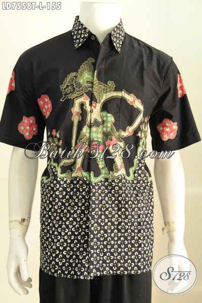 Toko Online Baju Batik Modern Pilihan Komplit, Sedia Hem Batik Tulis Lengan Pendek Size L Harga 155K Cocok Untuk Kerja [LD7558T-L]