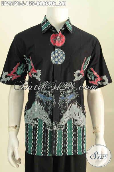 Baju Batik Motif Barongsai, Hem Batik Untuk Jalan-Jalan Bahan Halus Proses Tulis, Cocok Juga Buat Ke Kantor [LD7559T-L]