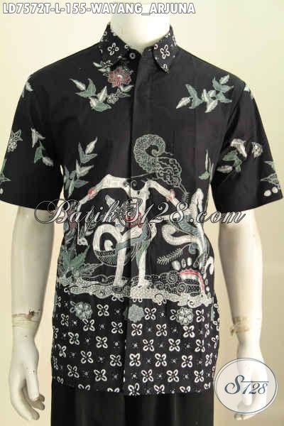 Pakaian Batik Cowok Motif Wayang Arjuna Tampil Lebih Gagah Dan Tampan Proses Tulis Harga 155K [LD7572T-L]