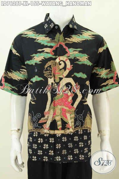 Jual Baju Batik Trend Motif Wayang, Kemeja Batik Pria Dewasa Proses Tulis Di Jual Online 100 Ribuan Model Lengan Pendek [LD7628T-XL]