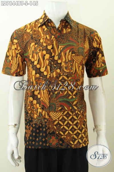 Hem Batik Klasik Lengan Pendek Elegan Proses Kombinasi Tulis Bikin Pria Terlihat Elegan Berwibawa [LD7644BT-S]
