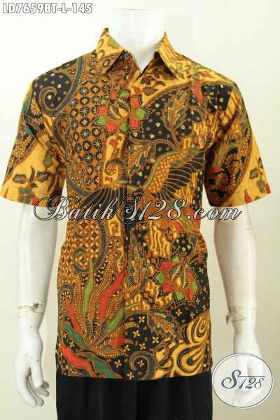 Produk Kemeja Batik Terkini, Hem Batik Yang Buat Pria Terlihat Gagah Mempesona, Bahan Adem Motif Klasik Proses Kombinasi Tulis Harga 100 Ribuan [LD7659BT-L]