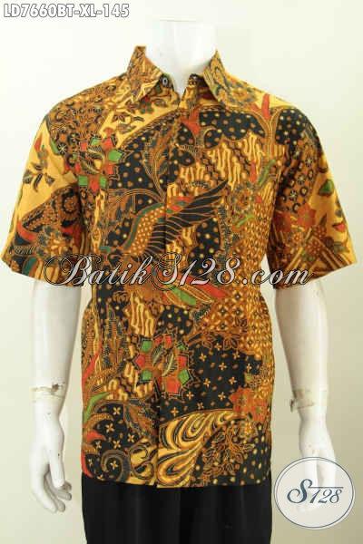 Baju Hem Batik Terbaru Bisa Untuk Kerja Dan Acara Resmi, Kemeja Batik Solo Halus Kombinai Tulis Mewah Hanya 145K [LD7660BT-XL]