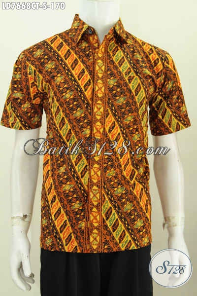 Hem Batik Parang Masa Kini, Busana Batik Modern Klasik Kwalitas Istimewa Proses Cap Tulis Cocok Buat Acara Formal Dan Santai [LD7668CT-S]