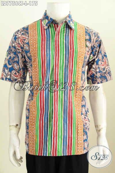 Hem Batik Halus Motif Terkini, Baju Batik Kerja Pria Muda Dan Dewasa Bikin Penampilan Lebih Gagah Bergaya [LD7756CT-L]