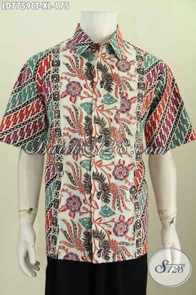Hem Batik Pria Produk Terkini, Baju Hem Batik Istimewa Lengan Pendek Untuk Lelaki Dewasa Terlihat Tampan Dan Gagah [LD7759CT-XL]