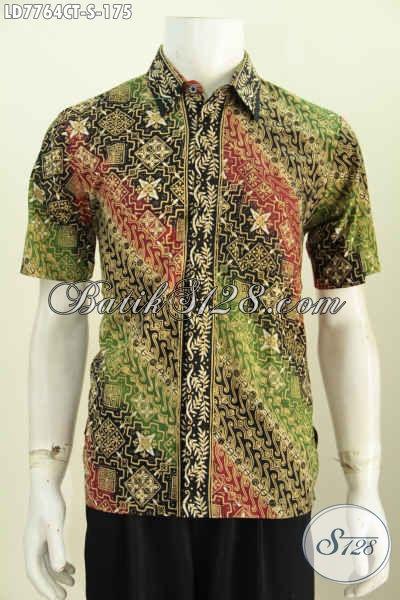 Batik Hem Modis Desain Terbaru, Baju Batik Trendy Buat Lelaki Muda Dengan Motif Terkini Tampil Makin Percaya Diri [LD7764CT-S]