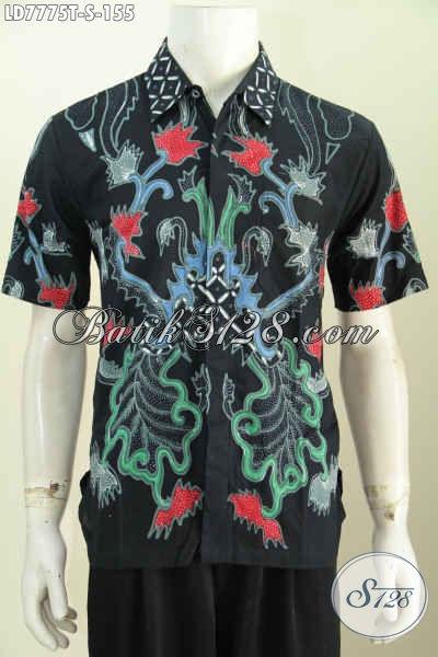 Hem Batik Tulis Lengan Pendek 100 Ribuan, Baju Batik Halus Motif Unik Pas Buat Seragam Kerja [LD7775T-S]
