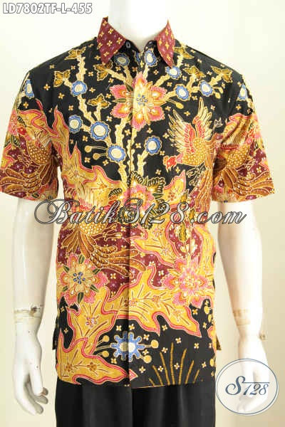 Baju Seragam Kerja Pria Karir, Hem Batik Berkelas Model Lengan Pendek Motif Bagus Proses Tulis Harga 455K [LD7802TF-L]