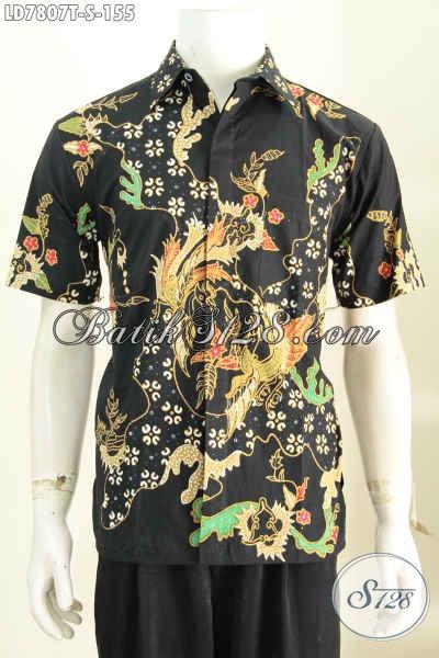 Baju Hem Keren Bahan Batik Tulis Halus Harga 100 Ribuan, Pakaian Batik Masa Kini Cocok Buat Santai Dan Resmi [LD7807T-S]