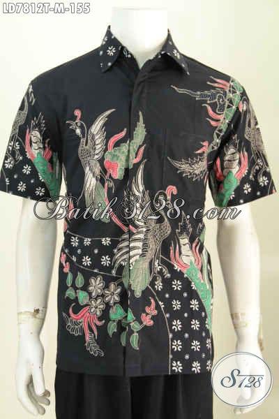 Sedia Kemeja Batik Modis Istimewa Harga Biasa, Hem Batik Modis Lengan Pendek Proses Tulis Bikinn Pria Tampil Bergaya [LD7812T-M]