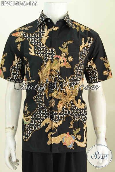 Baju Batik Gaul Motif Trendy Bahan Adem Model Lengan Pendek Size M Hanya 155 Ribu [LD7814T-M]