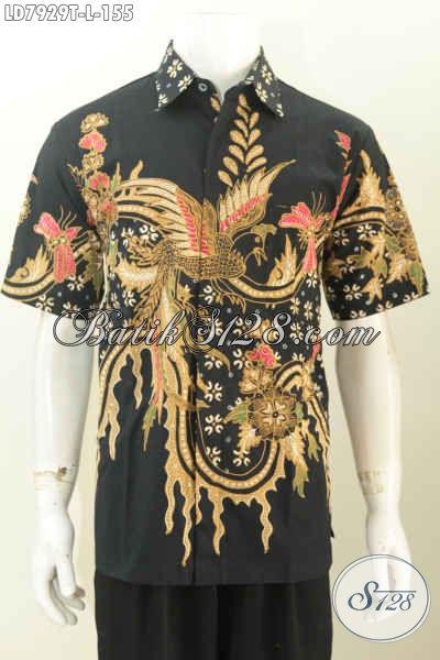 Kemeja batik pria lengan pendek motif modern