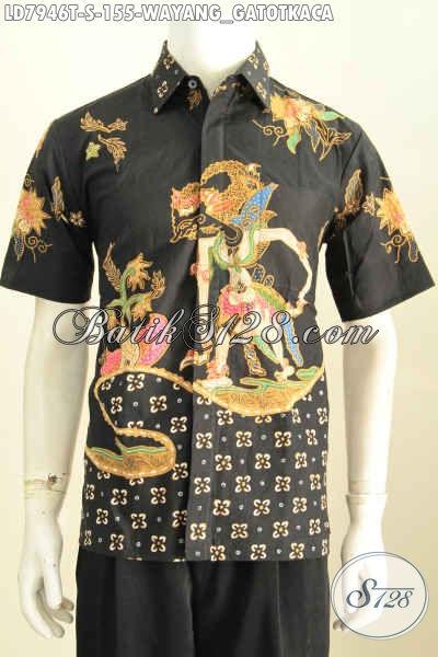 Jual Baju Batik Wayang Istimewa Kwalitas Halus Proses Tulis Model Lengan Pendek Harga 150 Ribuan Saja [LD7946T-S]