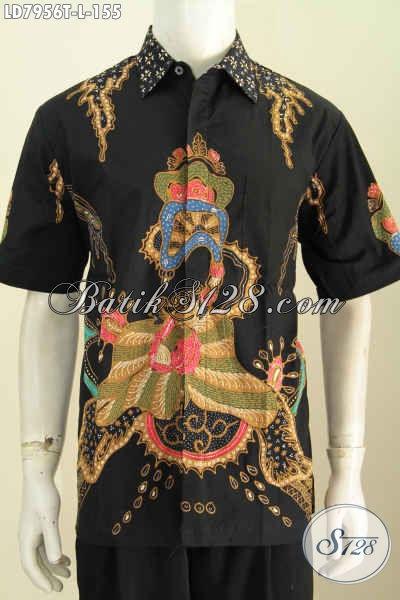 Baju Batik Tulis Solo 100 Ribuan, Pakaian Batik Lengan Pendek Halus Motif Terkini Tampil Gaya Dan Modis [LD7956T-L]