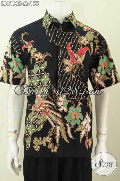 Hem Batik Keren Modis Buat Gaul, Baju Batik Halus Lengan Pendek Motif Terkini Proses Tulis Hanya 100 Ribuan [LD8132T-M]
