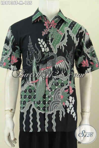 Pusat Busana Batik Solo Jual Online Kemeja Batik Keren Untuk Pria Muda, Baju Batik Modis Motif Terkini Proses Tulis Tampil Bergaya [LD8136T-M]