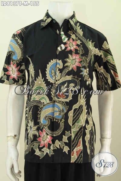 Hem Batik Keren Buatan Solo, Busana Batik Jawa Trendy Motif Bagus Proses Tulis Di Jual Online 155K [LD8137T-M]