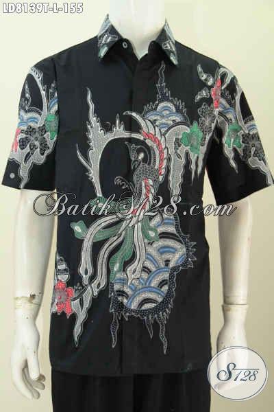 Produk Baju Batik Terbaru, Koleksi Pakaian Batik Pria Lengan Pendek Halus Motif Keren Hanya 155 Ribu Proses Tulis [LD8139T-L]