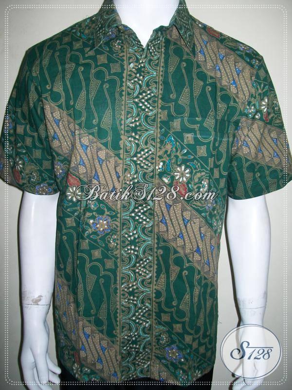 Kemeja Batik Hijau Elegan Untuk Kekantor Hari Jumat, Keren dan Mantap [LD814CT-L]