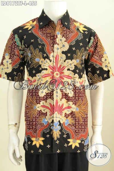 Online Shop Aneka Produk Batik Solo Terlengka, Sedia Hem Lengan Pendek Premium Full Furing Proses Tulis 455K [LD8172TF-L]