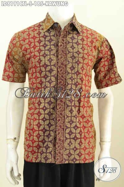 Baju batik pria motif kawung modern warna gradasi