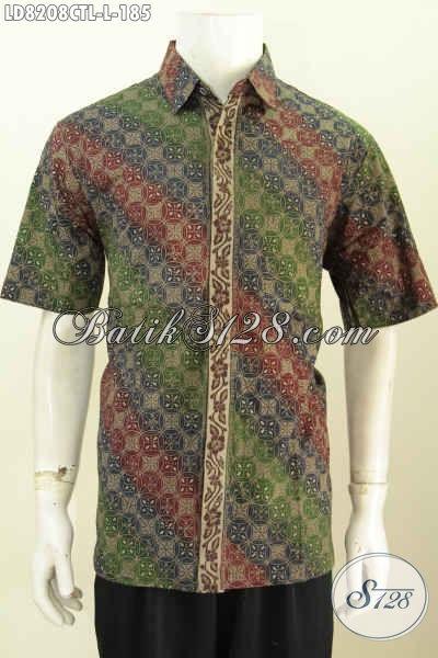 Baju Batik Halus Modern Motif Klasik, Pakaian Batik Pria Muda Dan Dewasa Buatan Solo Proses Cap Tulis Lasem Harga 180 Ribuan [LD8208CTL-L]