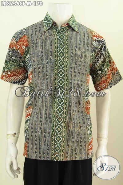 Jual Baju Batik Motif Paling Baru Lebih Keren Dan Trendy, Berbahan Halus Proses Cap Tulis Cocok Untuk Santai Dan Resmi [LD8236CT-M]