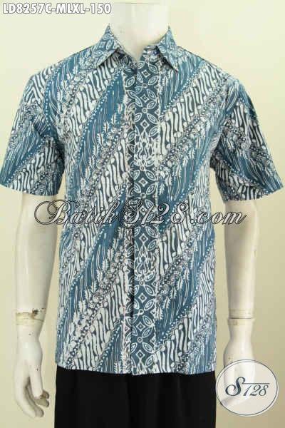 Aneka Hem Baik Parang Elegan Dan Istimewa, Busana Batik Solo Halus Proses Cap Bikin Penampilan Lebih Elegan [LD8257C-XL]