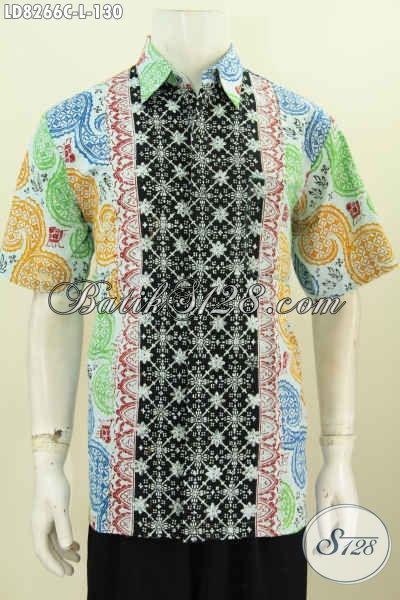 Produk Kemeja Batik Pria Terkini, Hem Batik Halus Motif Kombinasi Warna Bagus Proses Cap Tampil Makin Gaya Dan Keren [LD8266C-L]