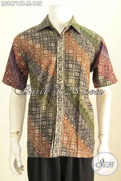 Contoh Baju Batik Pria Kombinasi Yang Sedang In Saat Ini, Pakaian Batik Kerja Nan Istimewa Yang Bikin Pria Terlihat Tampan Mempesona [LD8471CT-M]