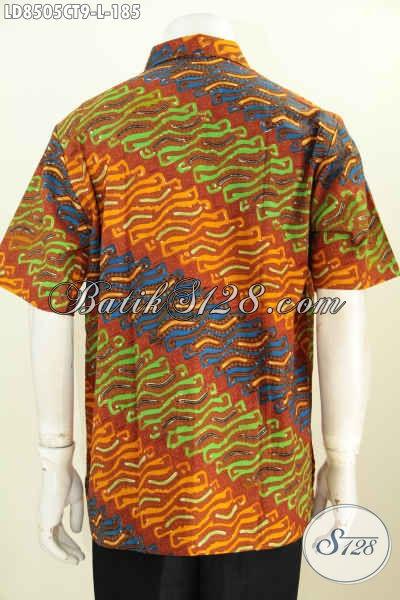 Harga Baju Batik Pria Terbaru, Hem Batik 185 Ribu Lengan Pendek Motif Bagus Banget Proses Cap Tulis, Pas Untuk Kerja Dan Acara Resmi [LD8505CT-L]