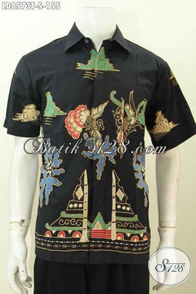 Jual Online Baju Batik Buat Pria, Kemeja Batik Tulis Motif Keren Banget Bahan Adem Harga 150 Ribuan [LD8573T-S]