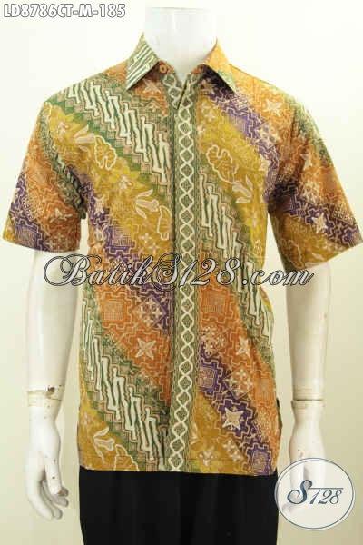 Batik Hem Pria Paling Keren, Kemeja Batik Seragam Kerja Kantoran Yang Bikin Penampilan Lebih Modis Dan Bergaya [LD8786CT-M]