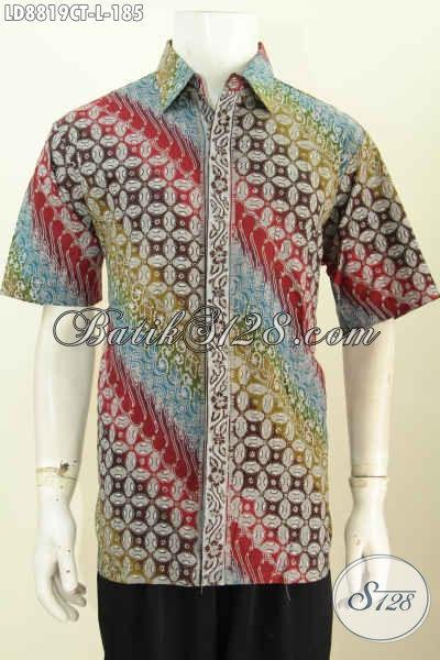 Online Shop Pakaian Batik Paling Up To Date, Sedia Kemeja Batik Solo Terbaru Bahan Halus Proses Cap Tulis Elegan Untuk Kerja Dan Acara Resmi [LD8819CT-L]