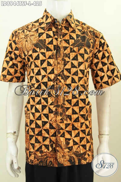 Batik Hem Mewah Lengan Pendek, Baju Batik Pria Muda Dan Dewasa Proses Tulis Soga Daleman Pakai Furing, Lebih Nyaman Dan Berkelas [LD8944TSF-L]