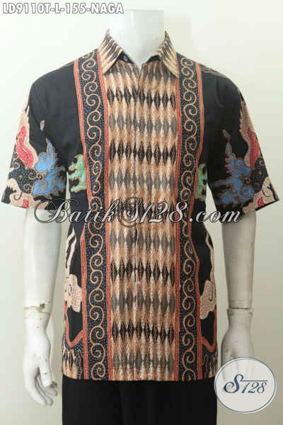 Toko Pakaian Batik Solo Jawa Tengah Lengan Pendek Kwalitas Bagus, Busana Batik Solo Masa Kini Untuk Penampilan Lebih Berkelas Harga 155K [LD9110T-L]