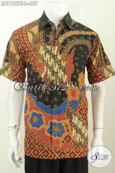 Baju Hem Batik Istimewa, Pakaian Batik Full Furing Motif Terkini Proses Tulis, Spesial Untuk Pria Kantoran [LD9122TF-L]